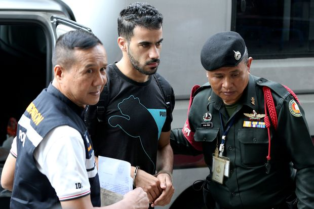 Hakeem Al Araibi, a former member of Bahrain's national football team who holds a refugee status in Australia, arrives at court Dec 11 following his detention by the Immigration Bureau in November. (Reuters photo)