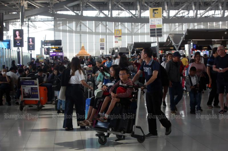 All airports operated by Airports of Thailand Plc close smoking rooms inside the terminals from Sunday. (Post Today photo)