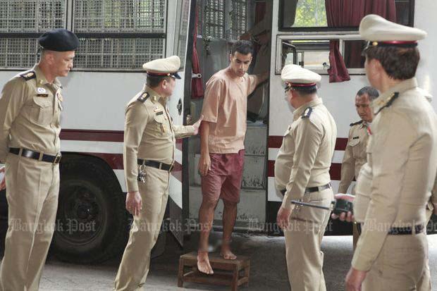 Hakeem al-Araibi arrives at Bangkok Criminal Court on Monday. (Photo by Pornprom Satrabhaya)
