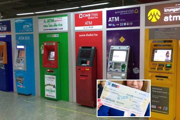 The lines are down at the ATM and a lot fewer payments are by cheque any more. (File photos)