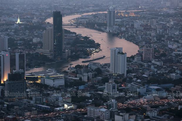 Bangkok's skyline will likely be redefined this year due mainly to regulatory reasons. (Photo by Patipat Janthong)