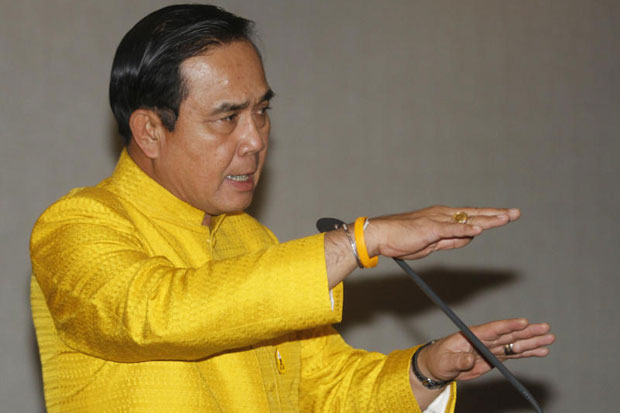 Prime Minister Prayut Chan-o-cha has defended the role of the appointed 250 senators who will join MPs in voting for a prime minister. (Bangkok Post file photo)