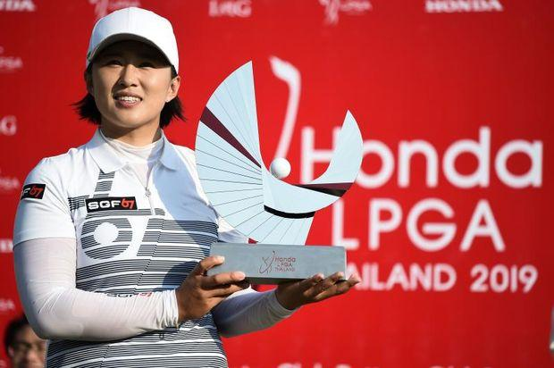 LPGA Thailand Jenny Shin birdies last hole to lead after two rounds