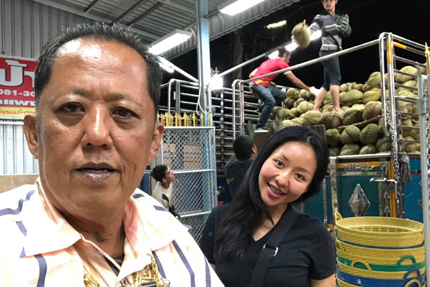 Anont Rotthong takes a picture with his youngest daughter. He posted it along with his Facebook post inviting hard-working men to try to win the heart of Kansita Rotthong, 26.