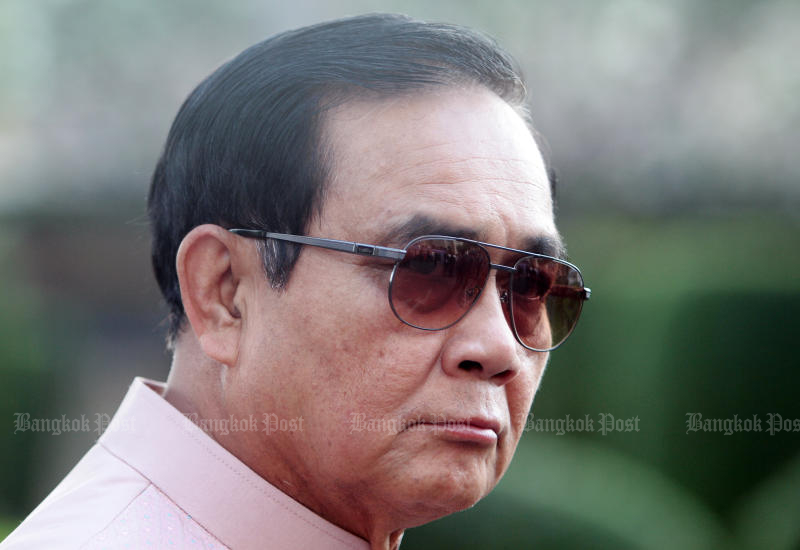 Prime Minister Prayut Chan-o-cha will visit the areas where the Palang Pracharath Party will hold its election campaign rallies. (Photo by Tawatchai Kemgumnerd)