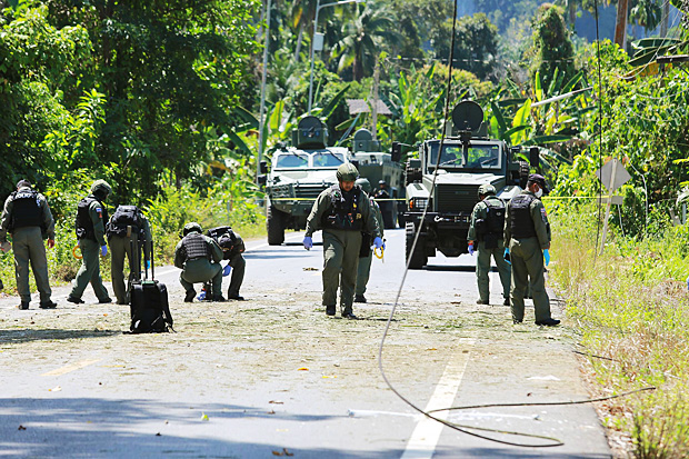 Four bombs exploded in Satun province. (Bangkok Post file photo)