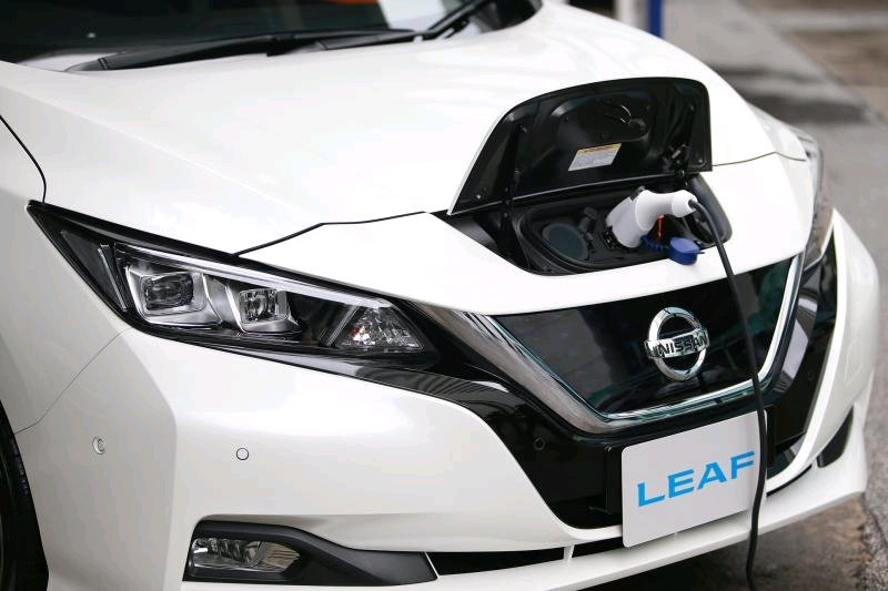 A Nissan Leaf electric vehicle recharges. The 8% excise tax on batteries is likely to be slashed to support EV battery production.