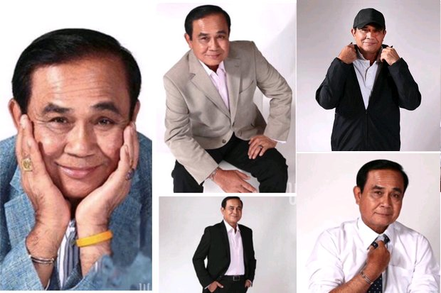 Political handlers have released photos of the 'new', cool Gen Prayut. (Photos via Instagram/Prayutofficial)