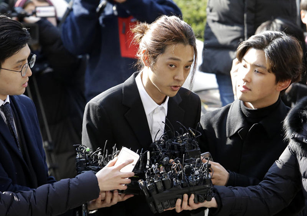 K-pop singer Jung Joon-young, speaks upon his arrival at the Seoul Metropolitan Police Agency in Seoul on Thursday