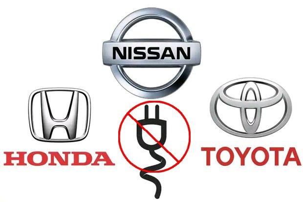 Toyota, Honda and Nissan on Thursday declined joining the government's plan for a Thailand hub of 'eco-electric vehicles'.
