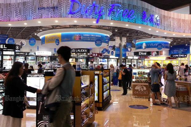 A duty-free shop at Suvarnabhumi airport, operated by monopoly concessionaire King Power.