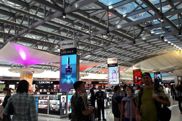 Duty-free outlets at Suvarnabhumi airport (file photo)