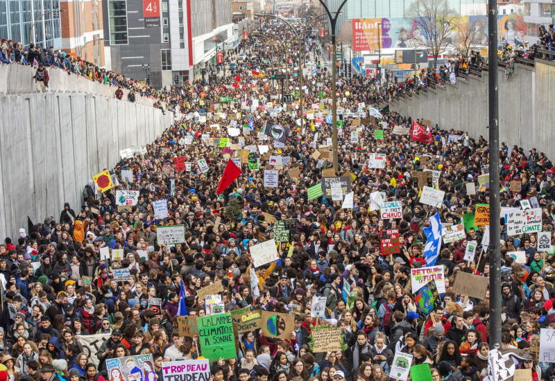 Students globally protest warming, pleading for future