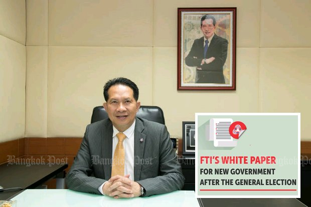 FTI chairman Supant Mongkolsuthree. The group's White Paper was prepared for the top five political parties. (File photo)