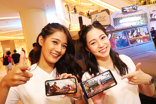 Presenters for DTAC promote games on mobile devices. The company foresees increased interest from gamers in 2019.