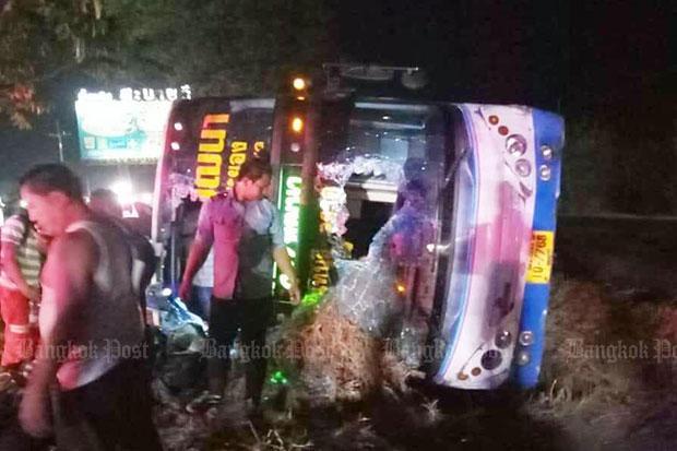 Bus crashes in Korat, 31 injured