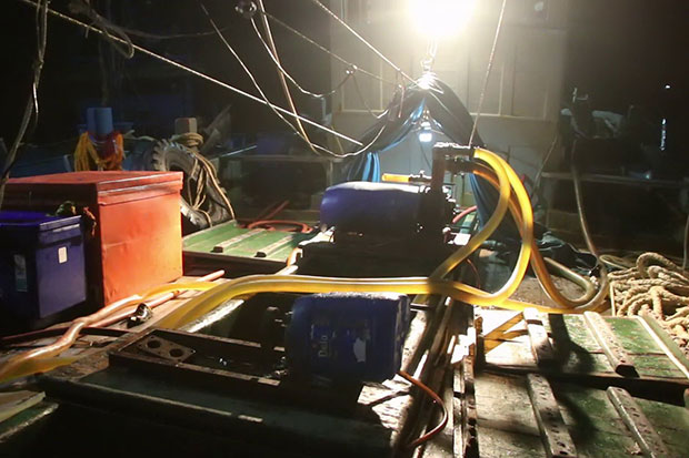 Trawlers caught delivering large cargo of contraband oil
