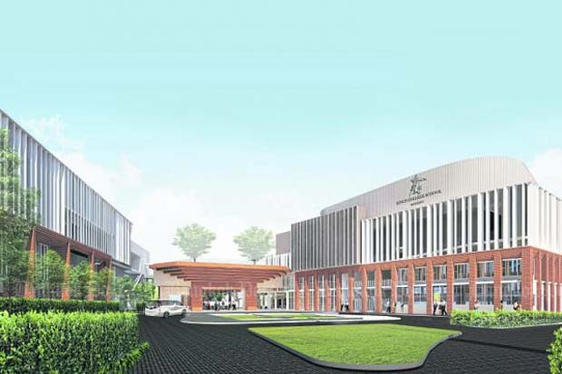 An artist's rendering of the school on Rama III Road.