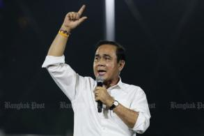 Politician Prayut the highlight of last-gasp party rallies