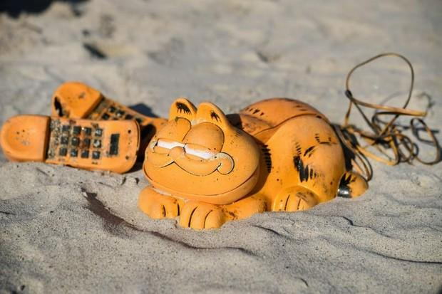 Mystery of 'Garfield' Phones Washing Up in French Beaches Finally Solved