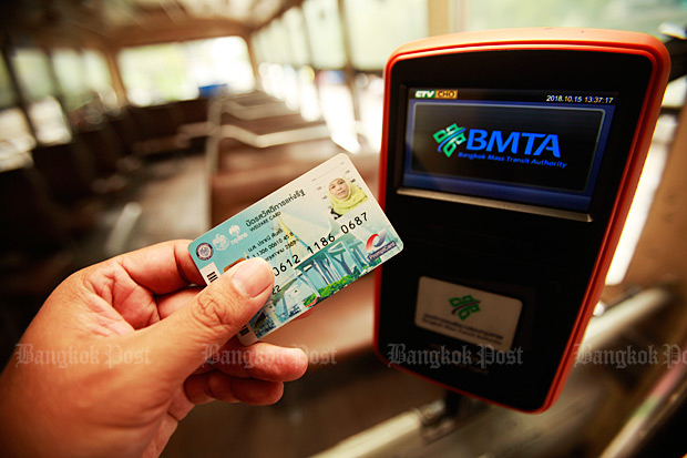 Better payment coming soon for bus number 510. (Bangkok Post file photo)