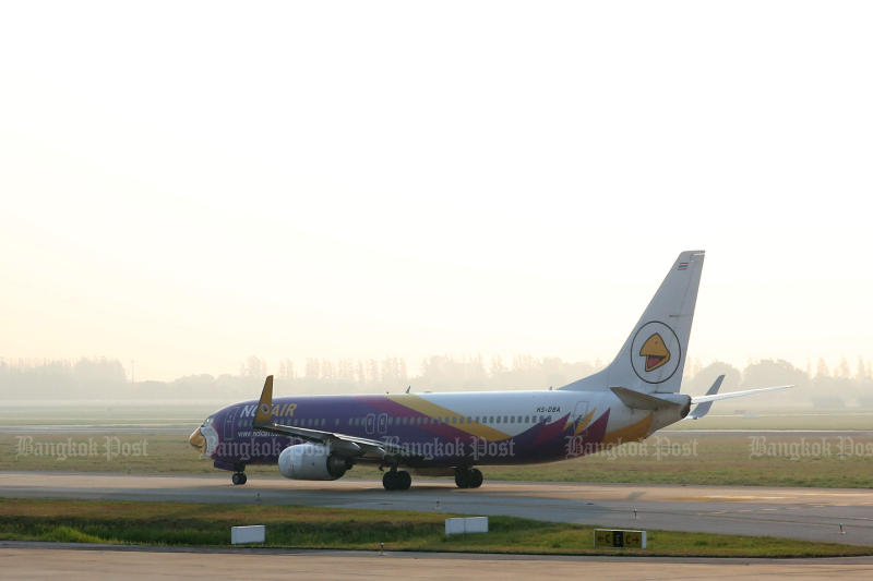 The final Nok Air flights between Don Mueang and Nan airports will be on April 17. (Post Today photo)