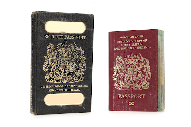 Back to the future? A British passport from 1978 (left) and the current version. (Bloomberg photo)