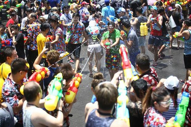 Playing Songkran in Thailand can be hectic.