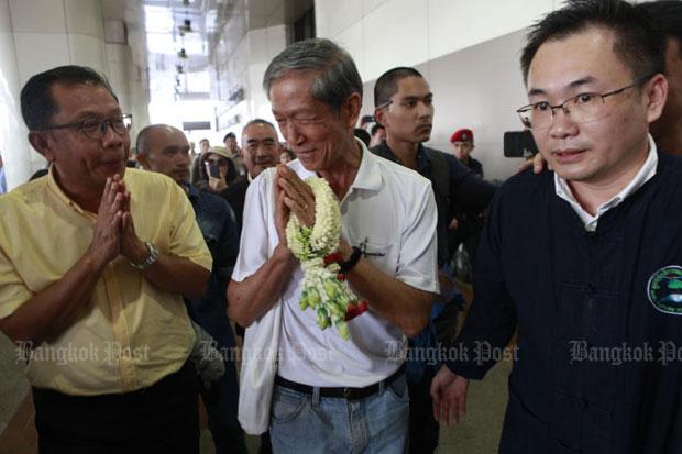 Daycha Siripatra at Don Mueang airport in Bangkok on Wednesday. (Photo by Pornprom Satrabhaya)