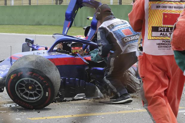 'Sorry guys', Albon says after stunning crash at Chinese Grand Prix