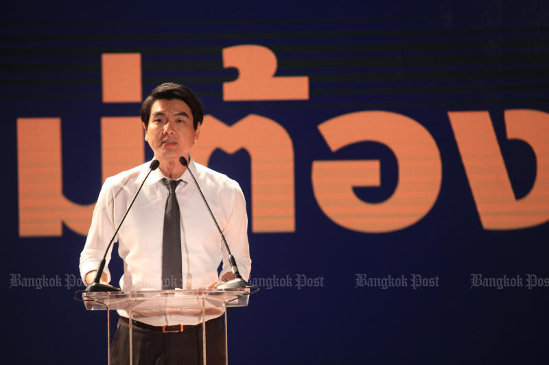 Future Forward Party secretary-general Piyabutr Saengkanokkul will acknowledge the computer crimes and contempt of court charges brought against him on Wednesday. (Photo by Somchai Poomlard)