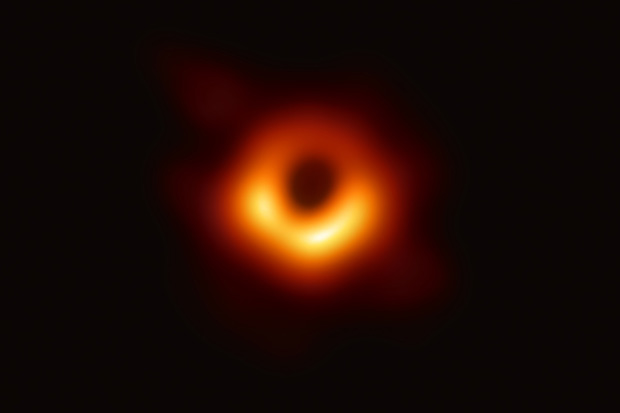 The recent black hole photo. (Photo by AFP)