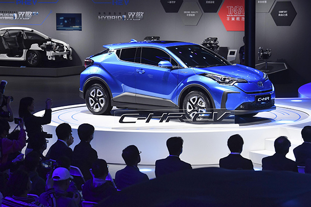 Toyota unveils electric SUVs at Shanghai motor show