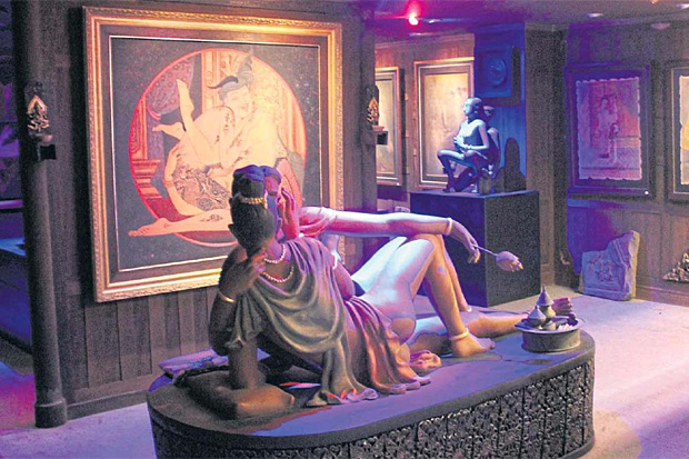 ON DISPLAY: A sculpture is seen in one of the exhibition rooms at the Kamavijitra erotic art museum in Thong Lor.
