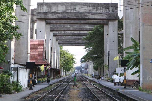 The Hopewell 60 kilometre-elevated railway. (Bangkok Post file photo)