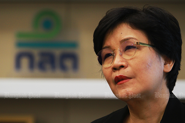 Mrs Tipsuda says the capital market should prepare for a digital future. (Photo by Somchai Poomlard)