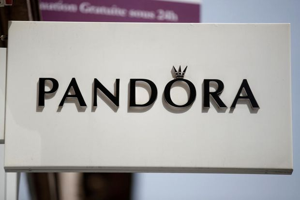 A sign outside a Pandora store, the international Danish jewellery manufacturer and retailer, is seen in Paris, France, Aug 7, 2018. (Reuters file photo)
