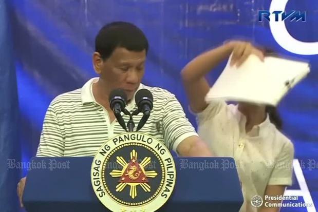 Philippine leader brushes off cockroach
