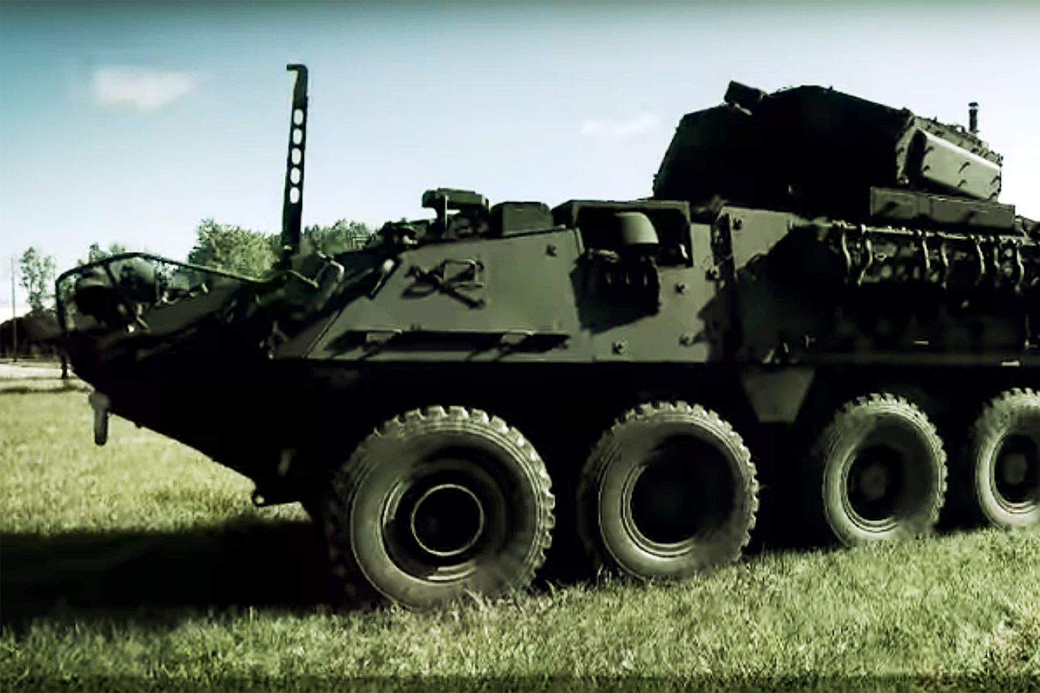 A model of the Stryker armoured personnel vehicle on YouTube released by the manufacturer General Dynamics Land Systems. The Royal Thai Army plans to buy 37 M1126 Strykers from the US.