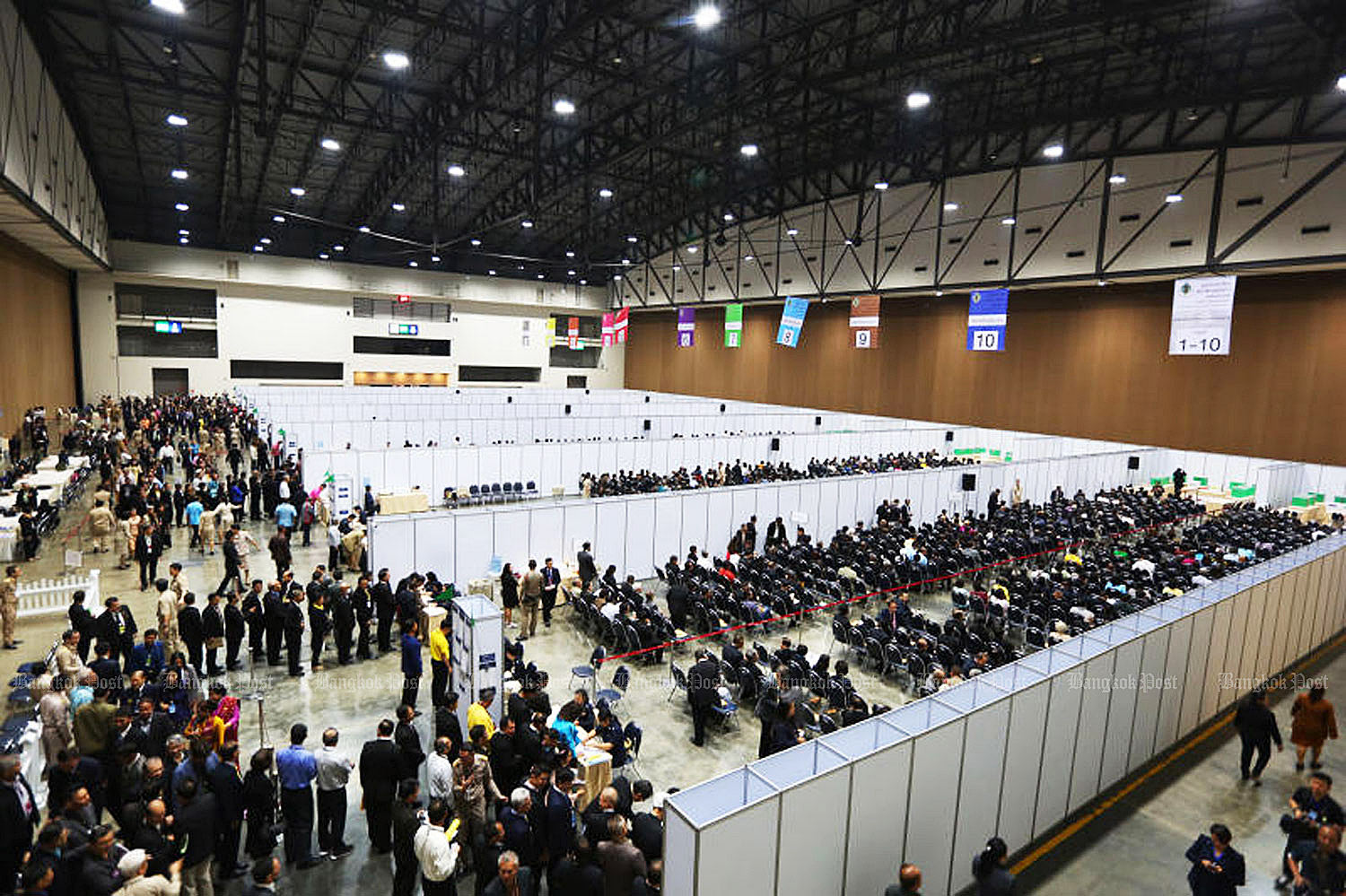 This 2018 photo shows the senator selection process at Impact Muang Thong Thani in Nonthaburi province. Over 2,700 candidates were shortlisted to 200 for the junta to handpick to 50.