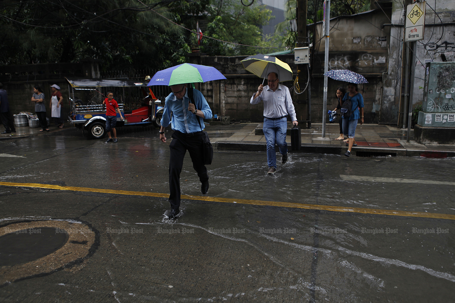 The rainy season will officially arrive on Monday and end in mid-October for most parts of the country. (Photo by Varuth Hirunyatheb)