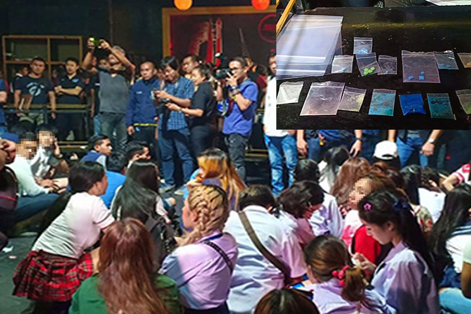 More than 200 customers, many wearing student uniforms, were found inside Space pub in Bang Khen district, Bangkok early Wednesday. 120 of them tested positive for drugs. (Photo taken from www.fm91bkk.com)
