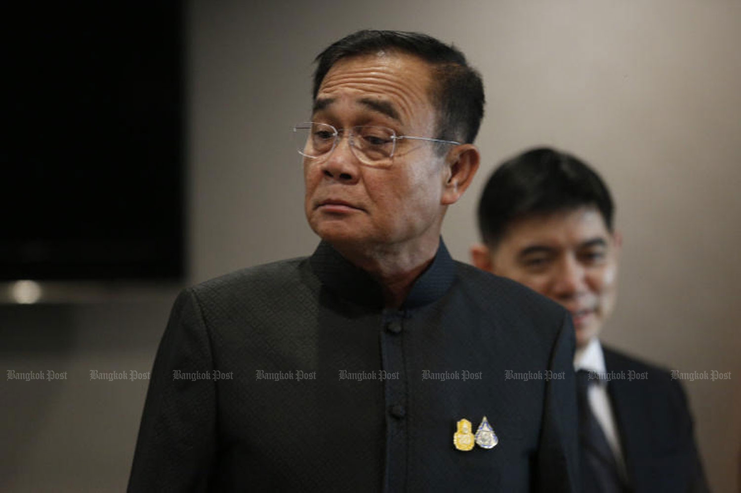Prime Minister Prayut Chan-o-cha in a press conference at Government House last week. (Photo by Pornprom Satrabhaya)