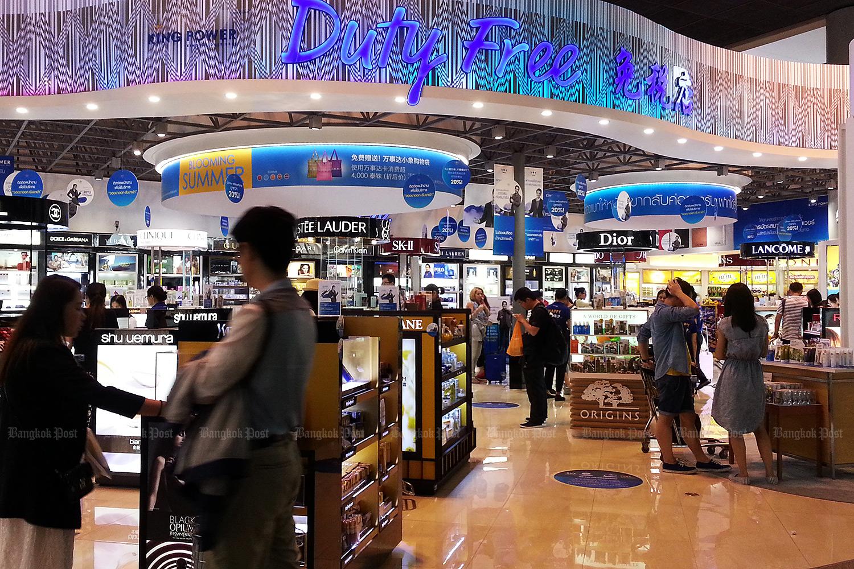 Duty-free shop in Suvarnabhumi airport. (Bangkok Post file photo)