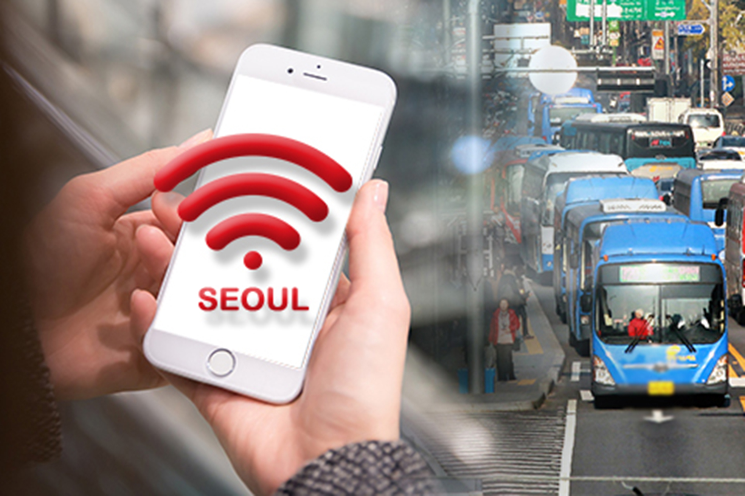 Wi-Fi connection will become free in all public transport services and parks across Seoul from next year. (Pulse photo)