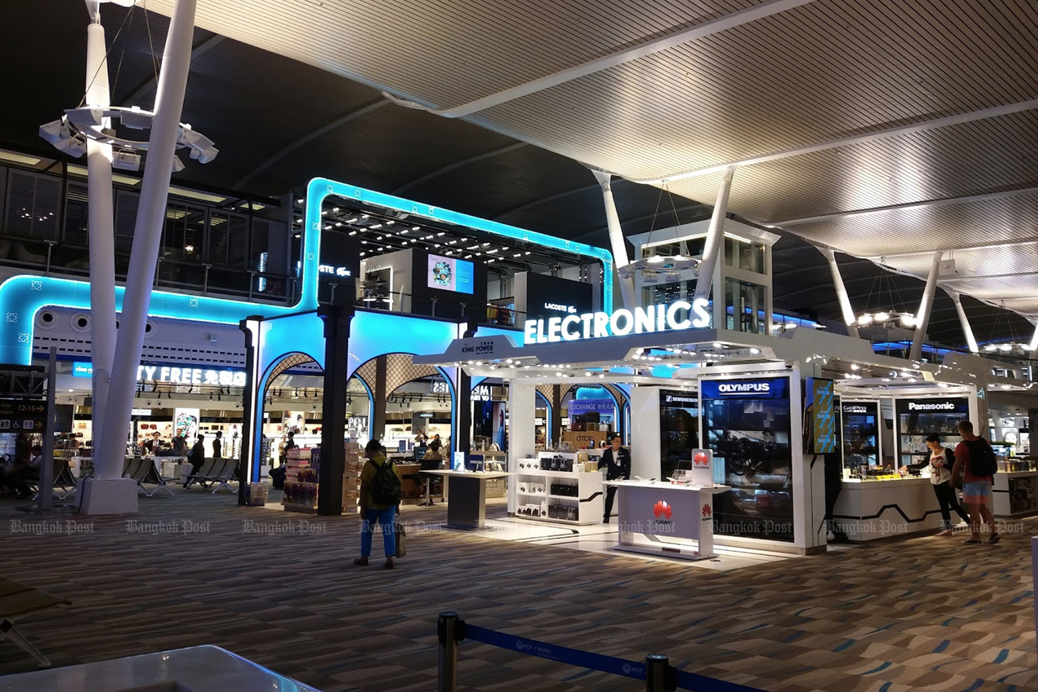Duty-free shops inside Phuket airport are operated by King Power Duty Free Co. (King Power Duty Free Co photo)