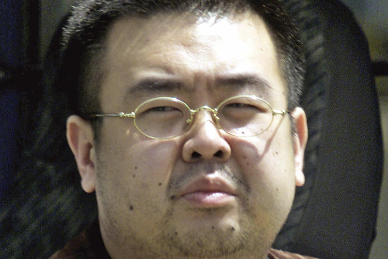 This May 4, 2001, file photo shows Kim Jong Nam, exiled half brother of North Korea's leader Kim Jong Un, in Narita, Japan. (AP file photo)