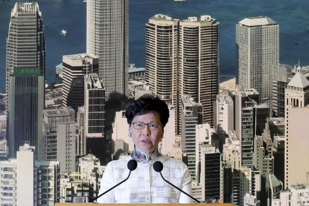 Protesters demand embattled Hong Kong leader Carrie Lam resign