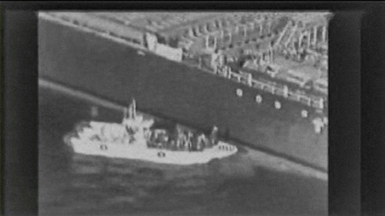 The US military on Thursday released grainy footage it said showed an Iranian patrol boat removing a limpet mine from the Kokuka Courageous