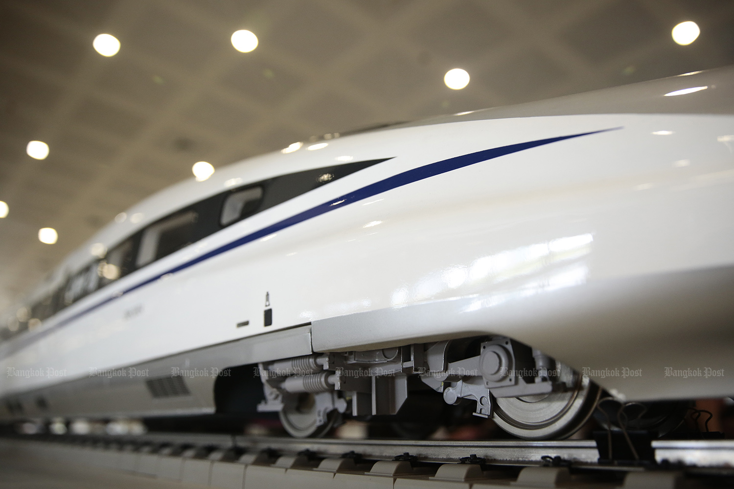 The high-speed train project to connect three main airports encounters land expropriation and eviction problems. (Photo by Patipat Janthong)